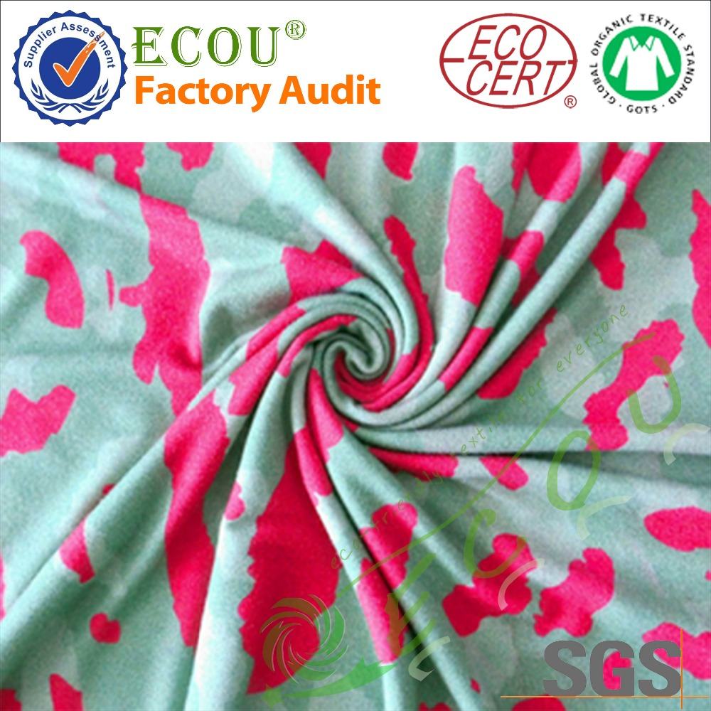 supply Digital printing bamboo5%spandex textile printed bamboo fabric