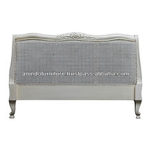 French Louis Headboard with Rattan