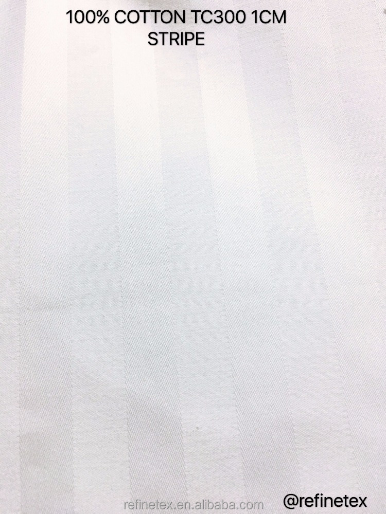 TC300 100% cotton 1cm stripe/pure cotton linen fabric