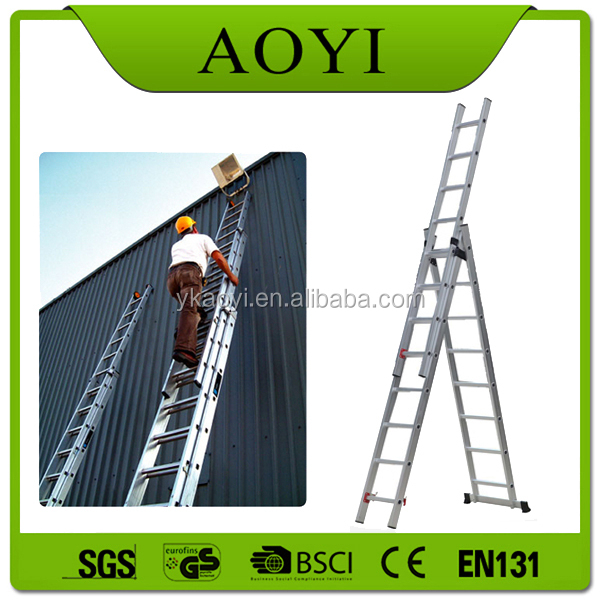 First classic quality aluminum folding 3*8 steps ladder three section ladder