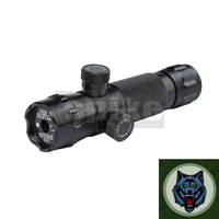 Tactical Green Laser Dot Outside Adjusted Rifle Scope Sight With 2 Mounts