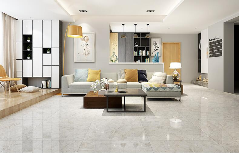 800x800mm Full Polished Grey Color Floor And Wall Tile