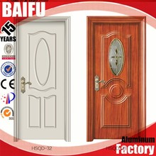 BaiFu Foshan Factory Manufactory Soild Wooden Single Main Door Design Entry Door