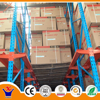 Heavy Duty Drive in Pallet Rack for Warehouse High Density Storage Use cosmetic metal shelves