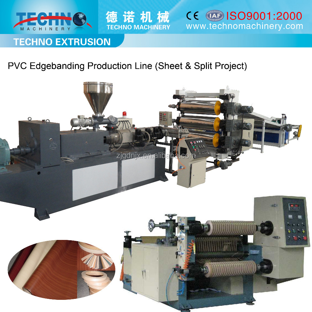 PVC Edge Banding Sheet Production Line with Slitting System