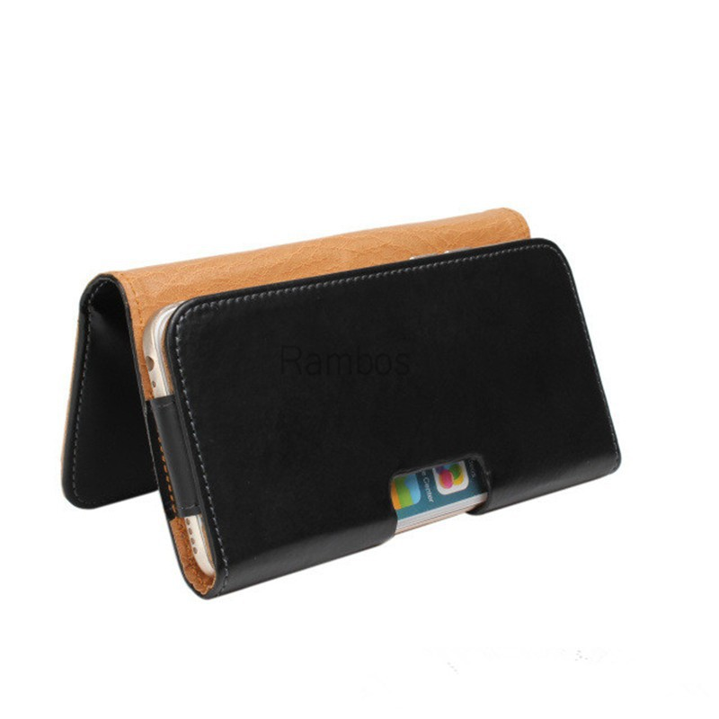 PU Leather Pouch Phone Case Cover Belt Holster Clip for Samsung Galaxy S6 / S6 Edge Phone leather belt case