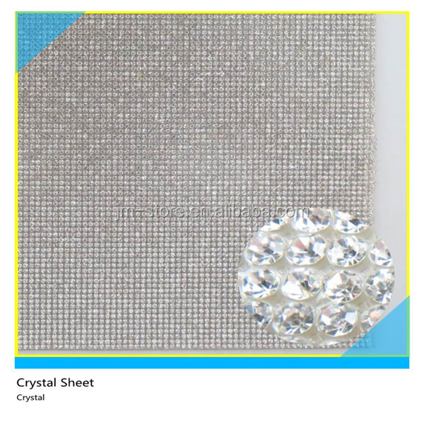 Hotfix Adheisve Rhinestone Mesh Sheets Ss6 2mm Clear <strong>Crystal</strong> 114x190 Pcs Per 1 Sheet