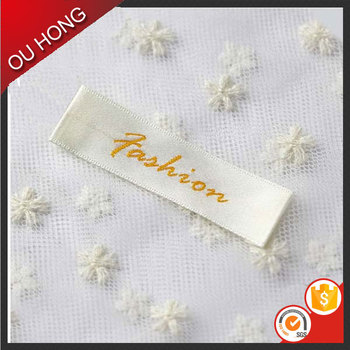 New Arrival Custom Design Cheap Polyester Clothing Woven Label for Blouse