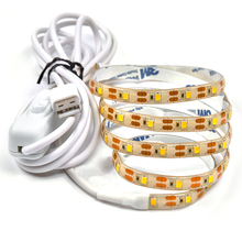 2m USB LED Strip 5V 2835 SMD IP65 Waterproof LED Tape Ribbon Light for Home Car TV Background Lighting + 2m USB Cable Switch
