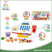 2016 New item preschool educational toys cash register machine electronic cash register with light and sound