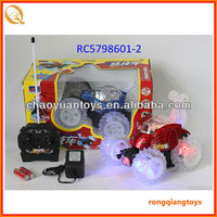 2013 latest 4 channel rc stunt car ,360 degrees turns,music and flashing light RC5798601-2