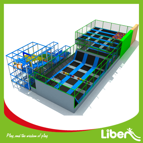 Customized Kids Indoor Amusement Soft Play Trampoline Park, Best Quality Indoor Bungee Jumping Trampoline Park