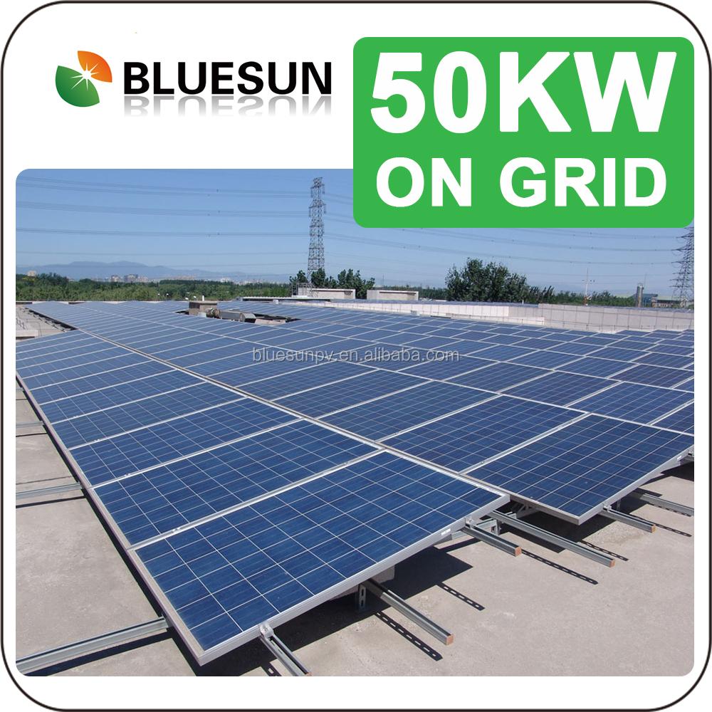 Industrial Solar Power System 50kw On Gird Ground Mount