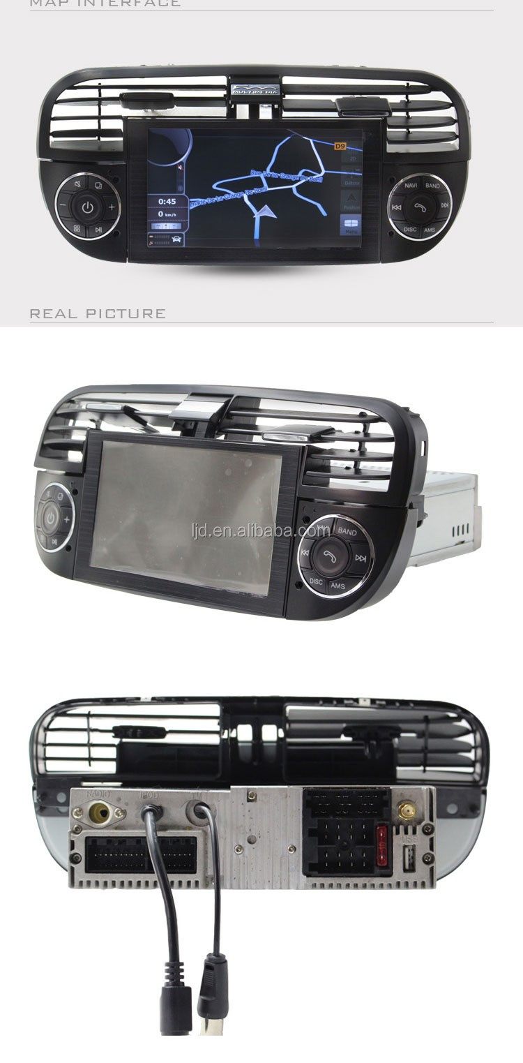 android car radio gps navigation for fiat 500 with DVD 3g wifi bluetooth steer wheel control