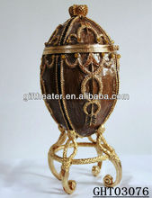 metal egg shape home decoration items