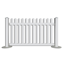 Fentech free maintanence UV protection cheap vinyl pvc temporary picket fence