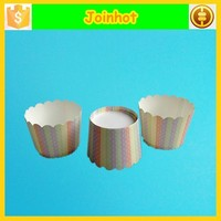 Wholesale price small size stripe cupcake liner paper dessert cups