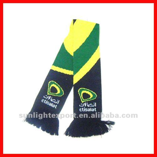 double layer knitted football scarf