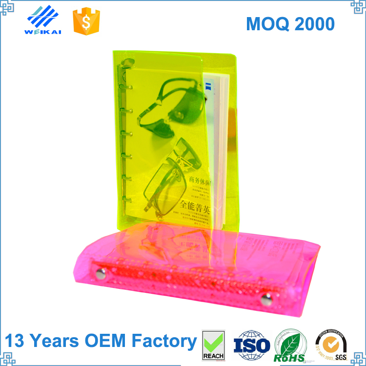 wholesale pvc a6 a4 a3 clear plastic book cover