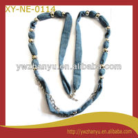 Fashion Fabric Rope Chain Beads Long