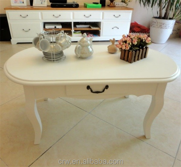 WH-4107 Elegant White Coffee End Table