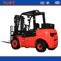 2 Ton 5.5 m Hydraulic Diesel Forklift Truck With 3 Stage Free Mast with Front Double Tires with Japanese Mitsubishi Engine