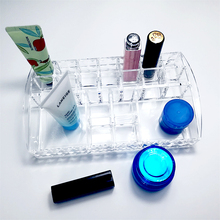 Clear plastic makeup acrylic organizer cosmetic beauty case