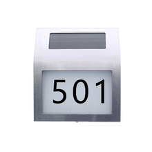 Newest Solar Powered LED Front Door Number Lights Number Plate Lamp Weather Resistant Door Plate Light for Home Garden Apart