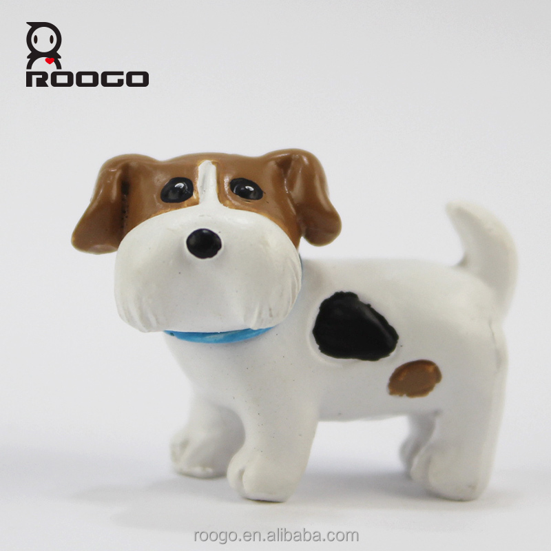 Roogo new 2017 mini scottish terrier dog sculpture toys ornanent for sale