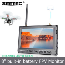 "8"" best channel receiption via antenna auto-switching built-in integrated lipo battery wireless rc plane with camera"