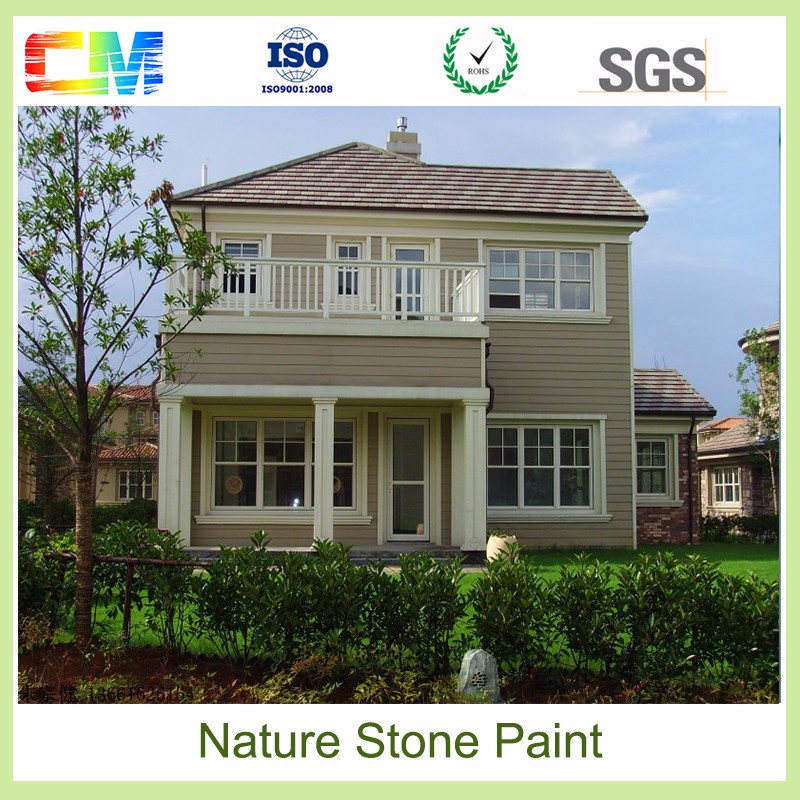 Best price water solubility exterior wall natural stone paint with water based material