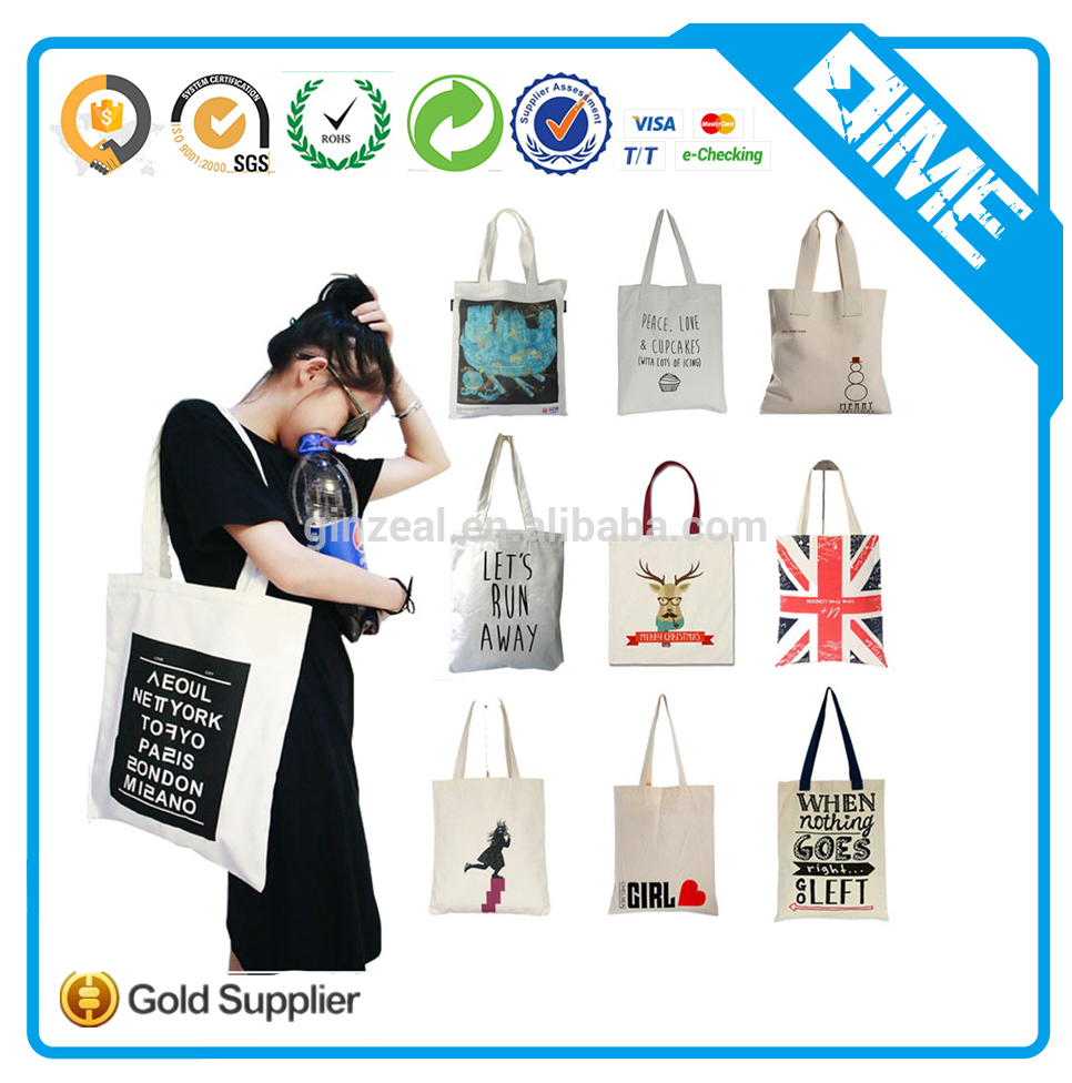 Wholesale custom logo printed Cotton Tote Bags for book