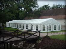 High quality wedding tent wedding marquee with white sidewalls and clear windows