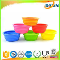 Dongguan wholesale FDA/LFGB customized collapsible silicone dog water bowls