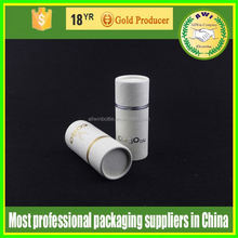 See through cosmetic packing round tube gift box