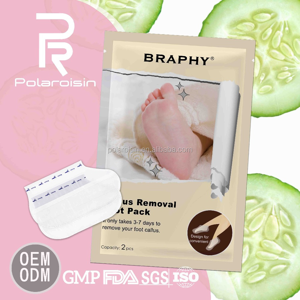 BRAPHY gentle peeling callus removing foot softening mask