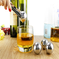 Stainless Steel Chilling Balls,Whiskey Ice Balls,Whiseky Ice Rocks