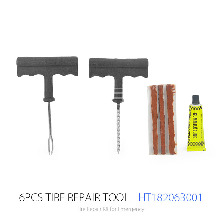 6pcs Motorcycle and Bicycle and Car Repair Tool Kit and Tyre Repair Equipment Tire Emergency Kit