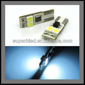 12V Super brightness Canbus W5W 194 T10-5050-2SMD led car dashboard bulb