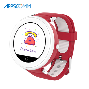 APPSCOMM 2018 Smart Watch GPS Watch Tracker Child Tracking Watches for Kids Safety