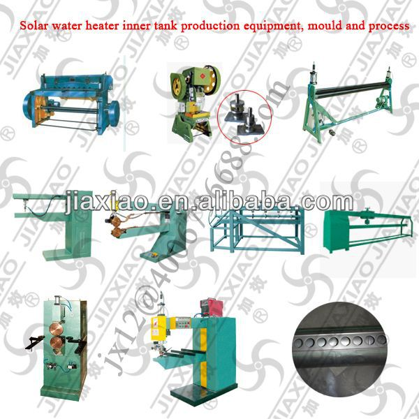 Welding machine to make solar water heater