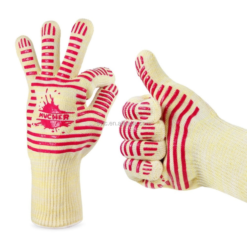 MUCHER Heat resistant silicone <strong>gloves</strong> & Barbecue <strong>Gloves</strong> for kitchen,home for five fingers.En407 <strong>glove</strong> direct supply