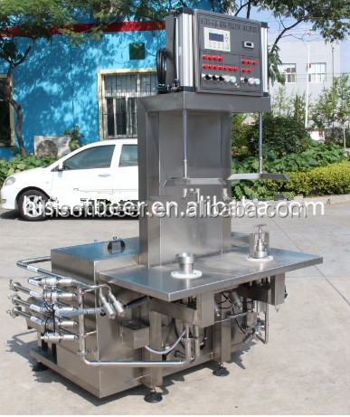 Stainless Steel Manual one Station Beer Keg Washer /keg cleaner/keg washing machine
