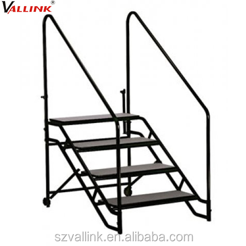 Website Selling Rolling Portable Stairs With Safety Rail