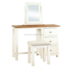White home mirror dressing table wood dresser design