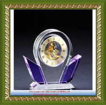 Crystal clock,fashion art crystal clock crafts,home decorative crystal clock