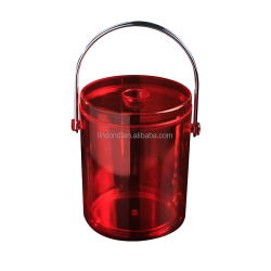 Small Capacity Double Wall Plastic Ice Bucket With Lid For Beer Cooler