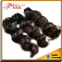 Fayuan top quality 100% human hair extension non processed Virgin Cambodian Natural Wave