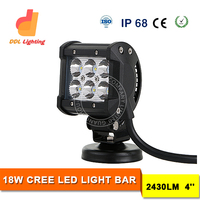 Hot selling mini 4 inch 18W Offroad auto led light/Auto LED Driving Light Bar IP68 9-32V 18W car led working light