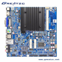 ZC-1037U 6C Intel motherboard with LVDS+Onboard Intel HD Graphic Card+1037U onboard dual core CPU+6 COM